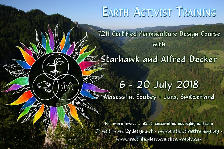 Permaculture Design Certificate Course with Starhawk & Alfred Decker |  Switzerland (RESCHEDULED)